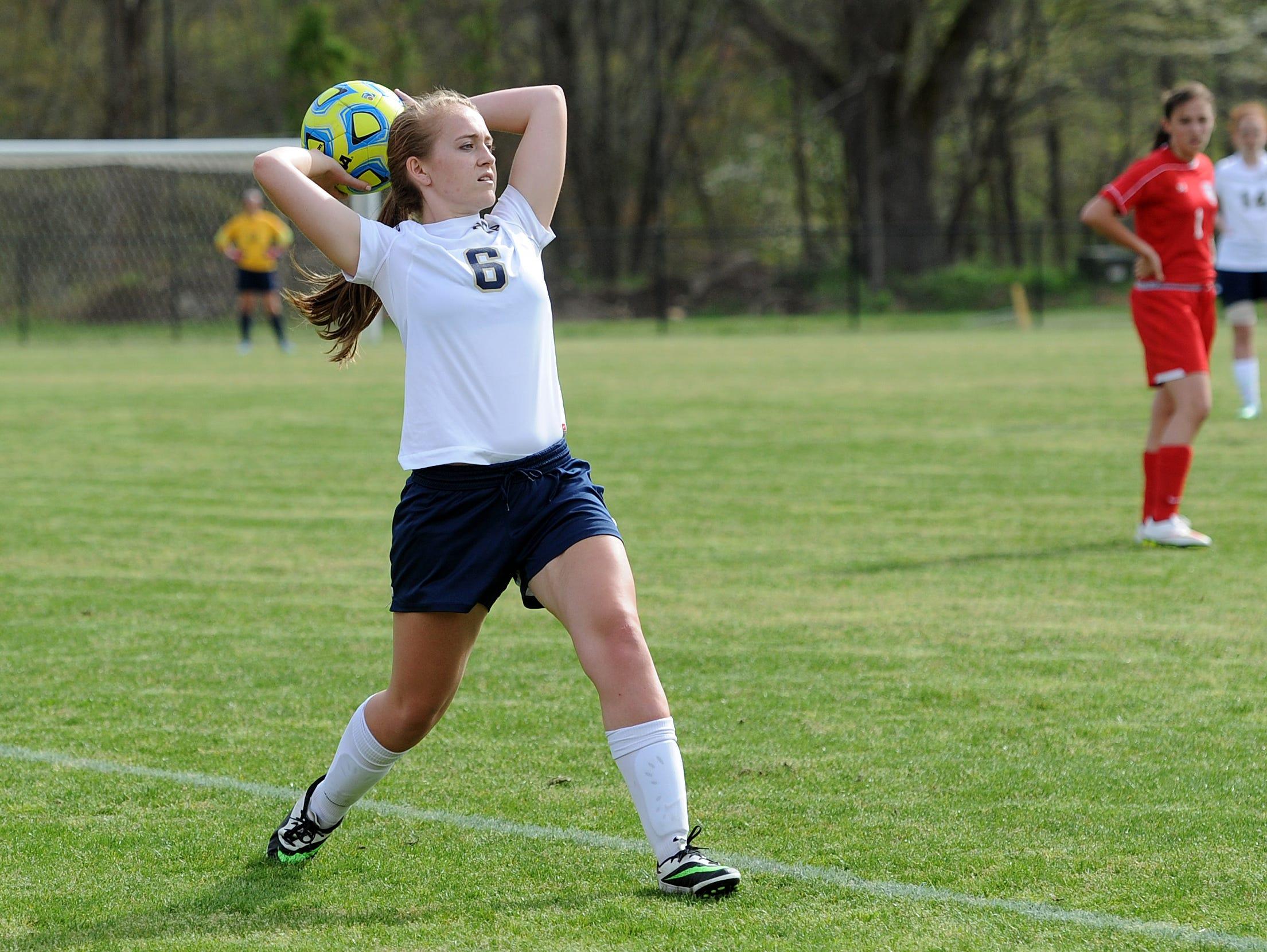 Asheville Christian Academy soccer player Hannah Thornburg.