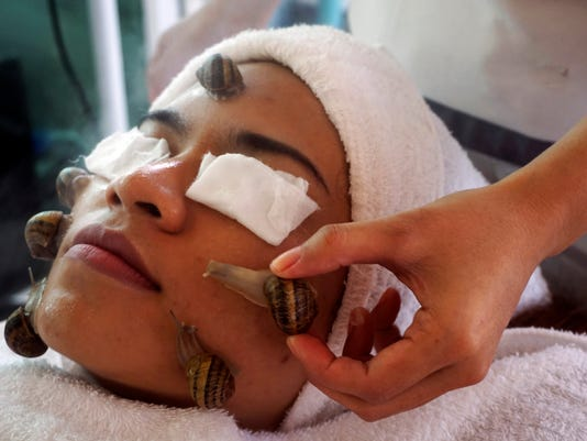 A beauty treatment with snails