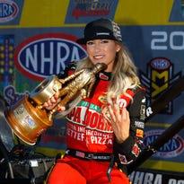 Leah Pritchett wins third NHRA Top Fuel event of season