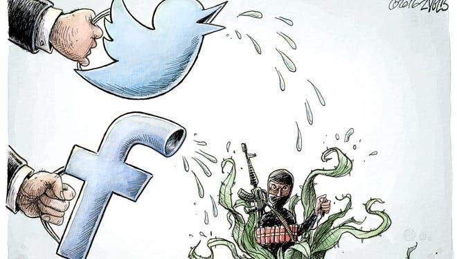 Adam Zyglis, The Buffalo News, drew this Desert Sun editorial cartoon for March 29, 2016.
