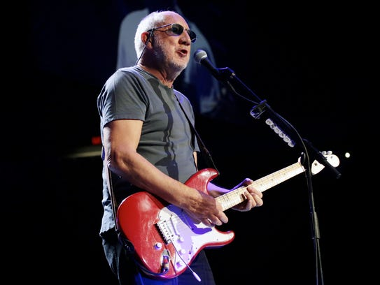 The Who guitarist Pete Townshend performs at Joe Louis