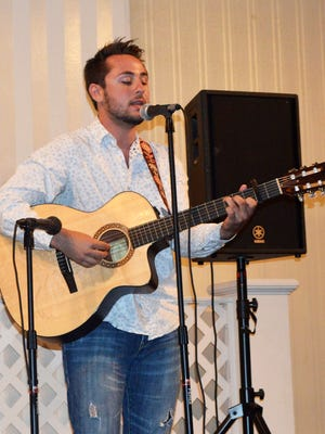 """Matt Adams of Vineland performs his original song, """"The Right Kind of Love"""" at the second annual Savoy's Got Talent, held June 6 at Merighi's Savoy Inn. Adams' performance earned him first place and the top prize of $250."""