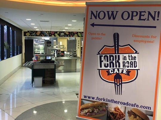 I Don't Give a Fork food truck owner Leigh Ann Tona will re-open her spin-off eatery, Fork in the Road Cafe, next month. It's located in the Delaware Memorial Bridge Plaza near New Castle.