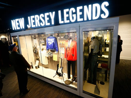 The New Jersey Legends section of the Grammy Museum Experience Prudential Center in Newark features clothes, gear and memorabilia from many New Jersey artists. The museum opened to the public Friday, Oct. 20, 2017.