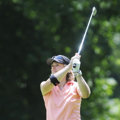 Joanna Beatty, seen playing in the 2014 New York State Women's Amateur golf tournament at Dutchess Golf Club in the Town of Poughkeepsie, is one of the favorites in this year's Dutchess County Women's Amateur, which starts Sunday.