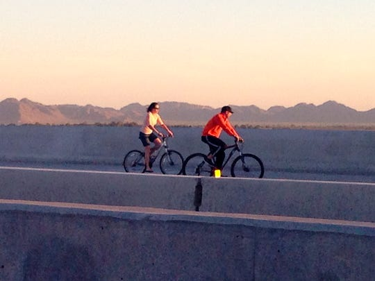 A preview of Arizona 24, which opened in Mesa in 2014, attracted joggers, walkers and bicyclists.