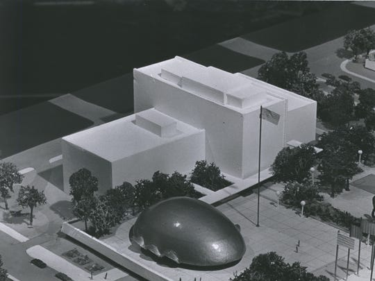 This undated model shows the design for the Wisconsin