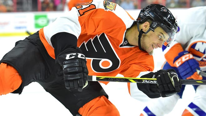 Scott Laughton played his first NHL game of the season for the Flyers Wednesday night.