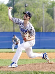 Mike Limoncelli pitches for Horseheads in a 5-0 win over Elmira in a Section 4 Class AA semifinal May 18, 2018.