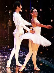 "Chinwan Kim and Tara Seymour dance ""The Nutcracker"" with Roxey Ballet."
