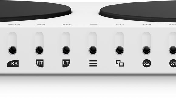 The back of the Xbox Adaptive Controller allows gamers