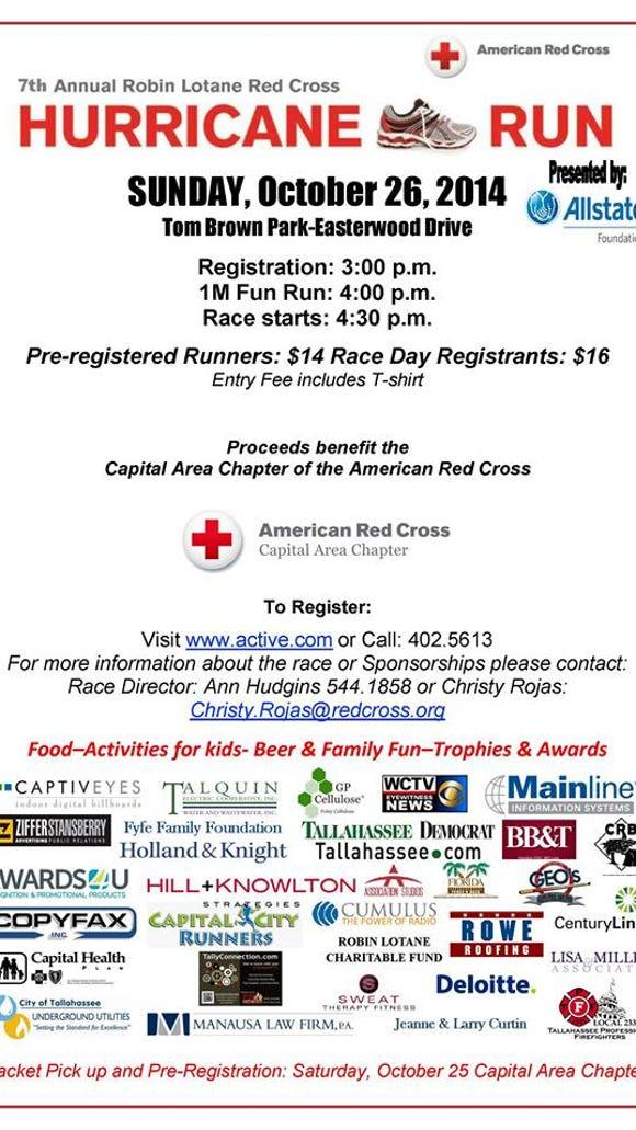 Red Cross Race info