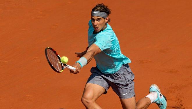 Nadal beat Leonardo Mayer on Saturday.