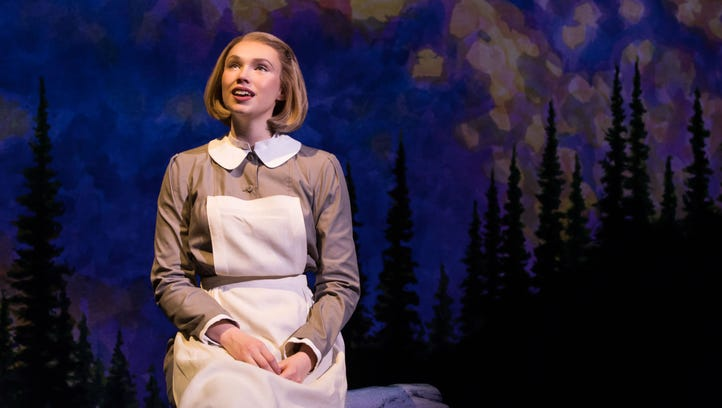 """Charlotte Maltby as Maria in the touring production of """"The Sound of Music."""""""