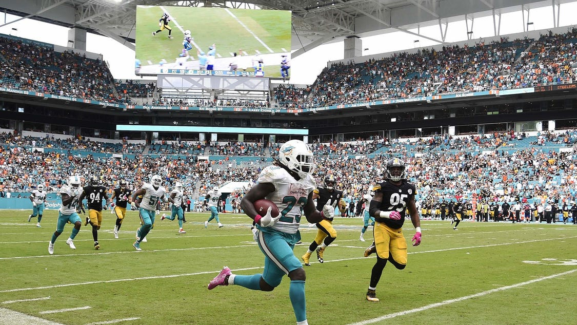 Dolphins stop B... J Ajayi Dolphins