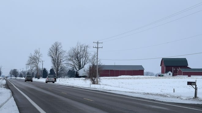This stretch of M-43 just west of Cochran Road is where an Eaton County Sheriff sergeant shot and killed a 17-year-old Mulliken resident during a traffic stop Saturday night.