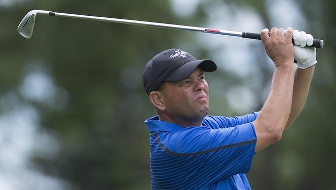 David Johnson, shown in a file photo, leads the Southridge Invitational after Saturday's first round.