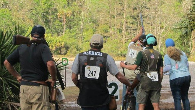 Shooters compete in this year's Gator Cup at Quail Creek Plantation in Okeechobee. More than 600 entries are registered this year for the sporting clays competition that will run through Sunday.