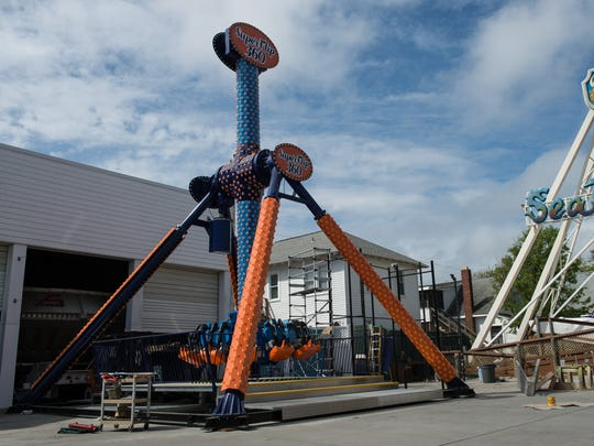 A view of the Super Flip 360 at Funland in Rehoboth Beach on Wednesday, April 19, 2017.