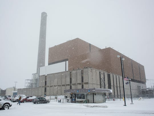 The natural gas power plant pictured Feb. 9, 2016 at