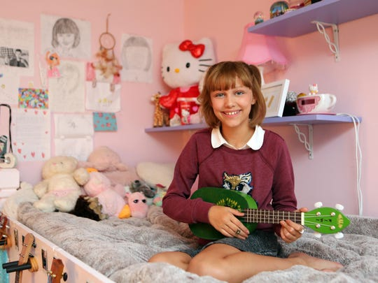 'America's Got Talent' singer Grace VanderWaal, 12, at home in Suffern July 18, 2016.