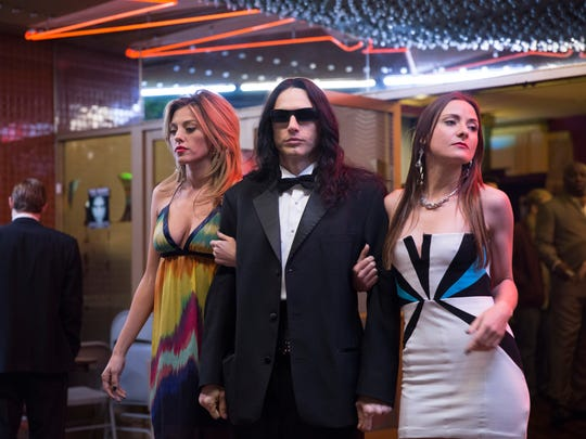 "James Franco (center) in a scene from ""The Disaster Artist."""