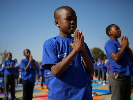 EPA SOUTH AFRICA WORLD YOGA DAY REL RELIGION ZAF