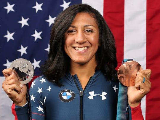 United States bobsledder Elana Meyers Taylor.