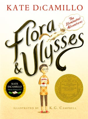 'Flora & Ulysses: The Illuminated Adventures' by Kate DiCamillo, illustrated by K.G. Campbell