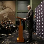 Doug Pederson speaks after he was introduced as the new coach of the Eagles on Tuesday in Philadelphia.