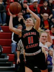 Lourdes Academy's Alexis Rolph is the 2018-19 team captain. She leads the team with 13 points per game in the first two games.