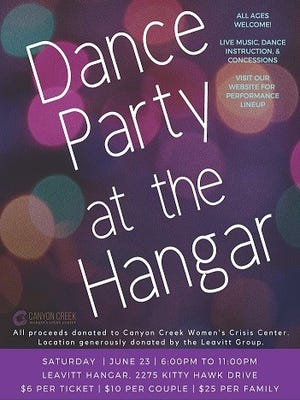 Dance at the Hangar fundraiser benefits Canyon Creek Women's Crisis Center