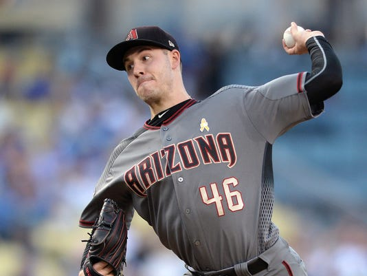 USP MLB: ARIZONA DIAMONDBACKS AT LOS ANGELES DODGE S BBN LAD ARI USA CA