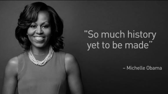 Michelle Obama is seen in this screengrab from an ad