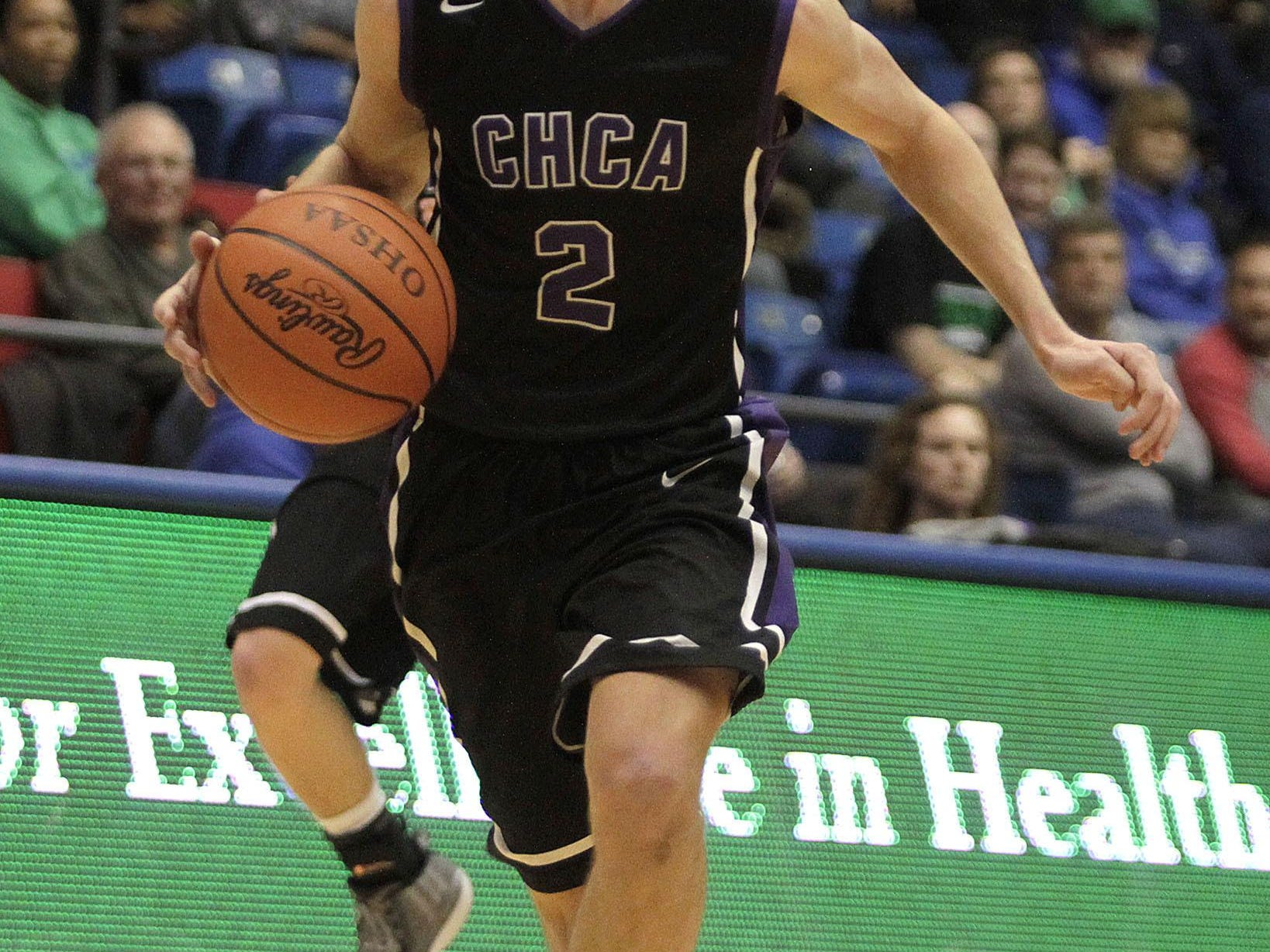 Erik Kohlan goes on a fast break for CHCA.