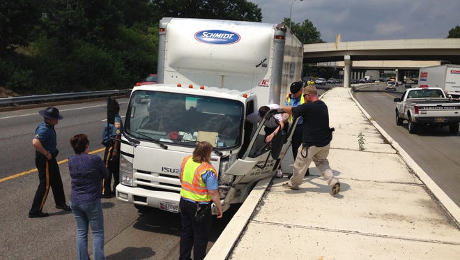 The left lane of southbound lane of I-95 at the Delaware Avenue ramp was closed earlier due to a crash, DelDOT said.