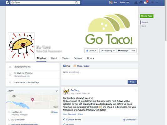 Go Taco facebook