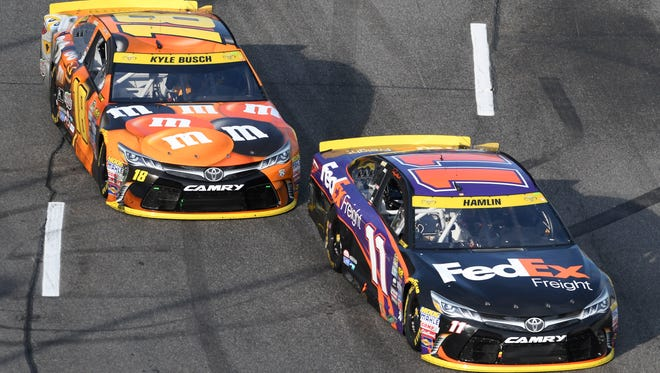 Kyle Busch believes his teammates could have worked together better to slow Jimmie Johnson at Martinsville.