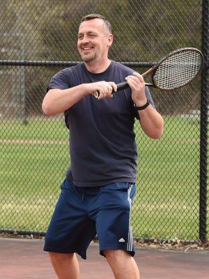 Dejan Novakovic, 46, of Pawling plays tennis at Thomas J. Boyce Park in Wingdale.