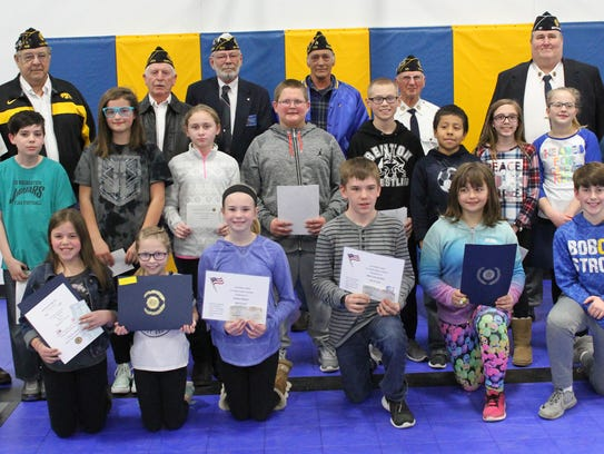 Local winners, as well as district winners, were honored