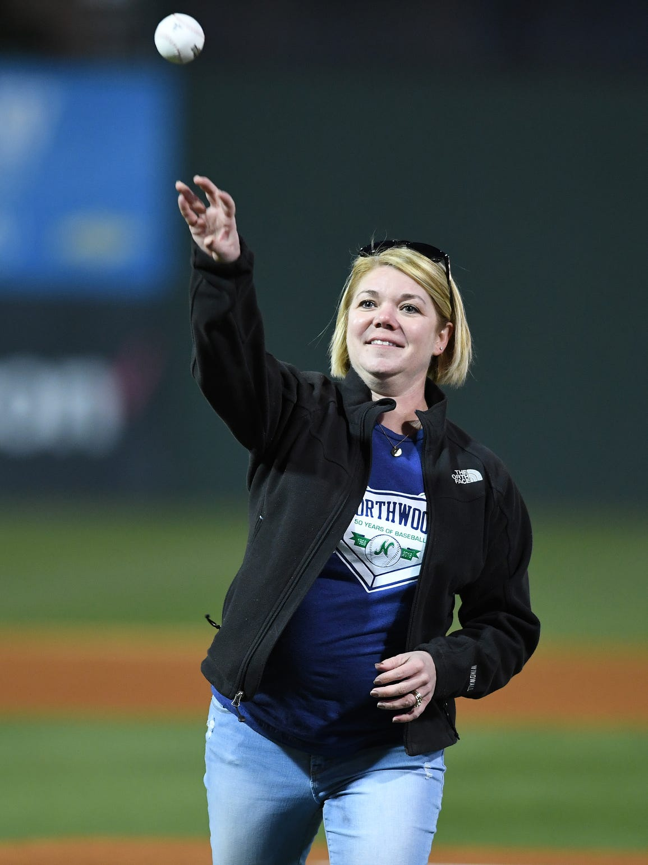 Northwood Director of Softball Jennifer Chew throws