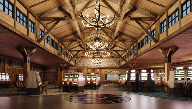 The Point Place Casino outside Syracuse is set to open March 1, 2018. The photo shows a rendering of the inside of the Oneida Nation's newest casino.