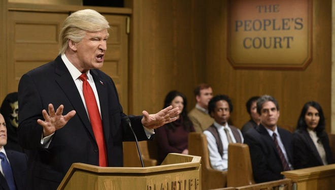 'Alec Baldwin' immersed in his Trump impression on Feb. 11, 2017.