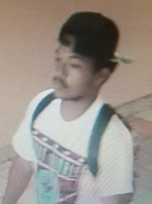 Police released this image of a suspect wanted in connection with the March 10 robbery inside the Micronesia Mall. Anyone with information is urged to call Guam Crime Stoppers at 477-4357 or call GPD dispatchers at 472-8911.