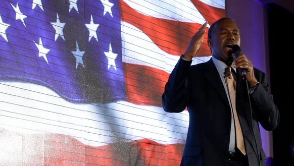 Ben Carson, speaks during a campaign event on Jan.