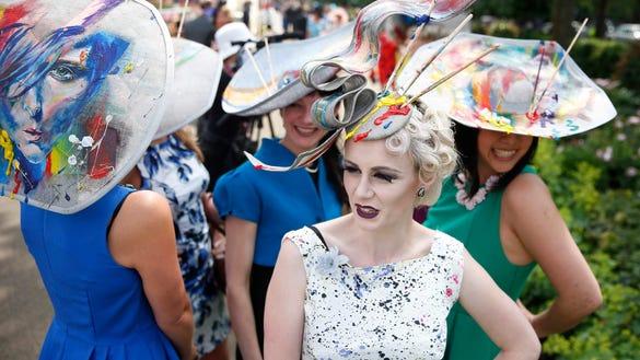 Royal Ascot hats on parade