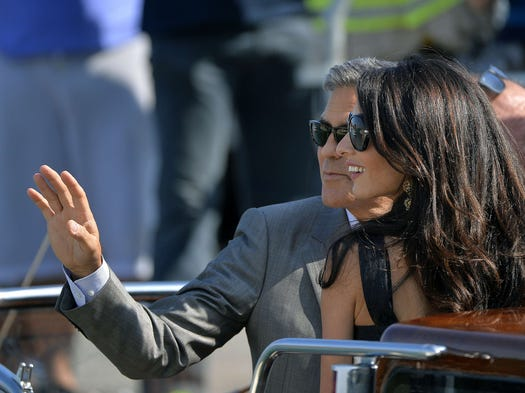 The stars are heading to the floating city! Celebrities hit the canals of Venice where George Clooney is expected to marry Amal Alamuddin this weekend.
