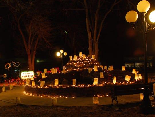 Carrizozo's Spider Park (McDonald) sparkles one Christmas