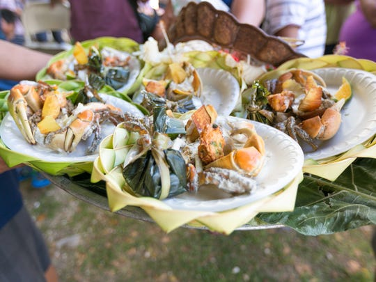 Stuffed crabs are presented for judging for the stuffed crab competition during the 2015 Annual Malesso Gupot Chamorro/Crab Festival held at Malesso Pier on March 29.