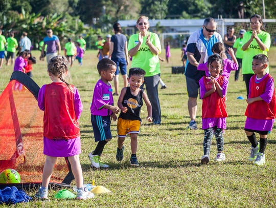 Children are shown at an E-soccer event in this file photo. E-soccer's spring 2019 season will run through April 27.